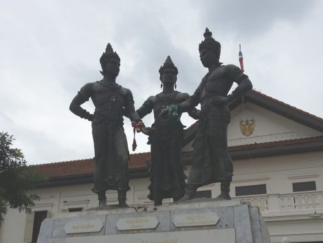 Kings Mengrai, Ramkamhaeng and Ngam Muang