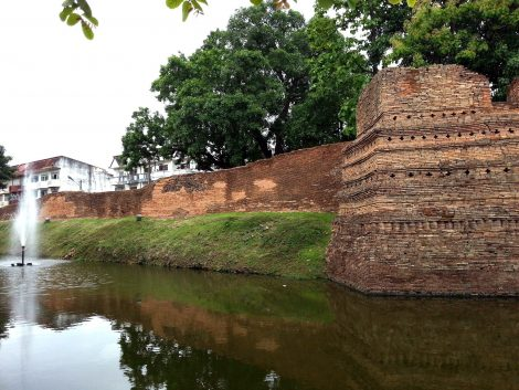 Section of city wall by the Fort of Sri-Poom