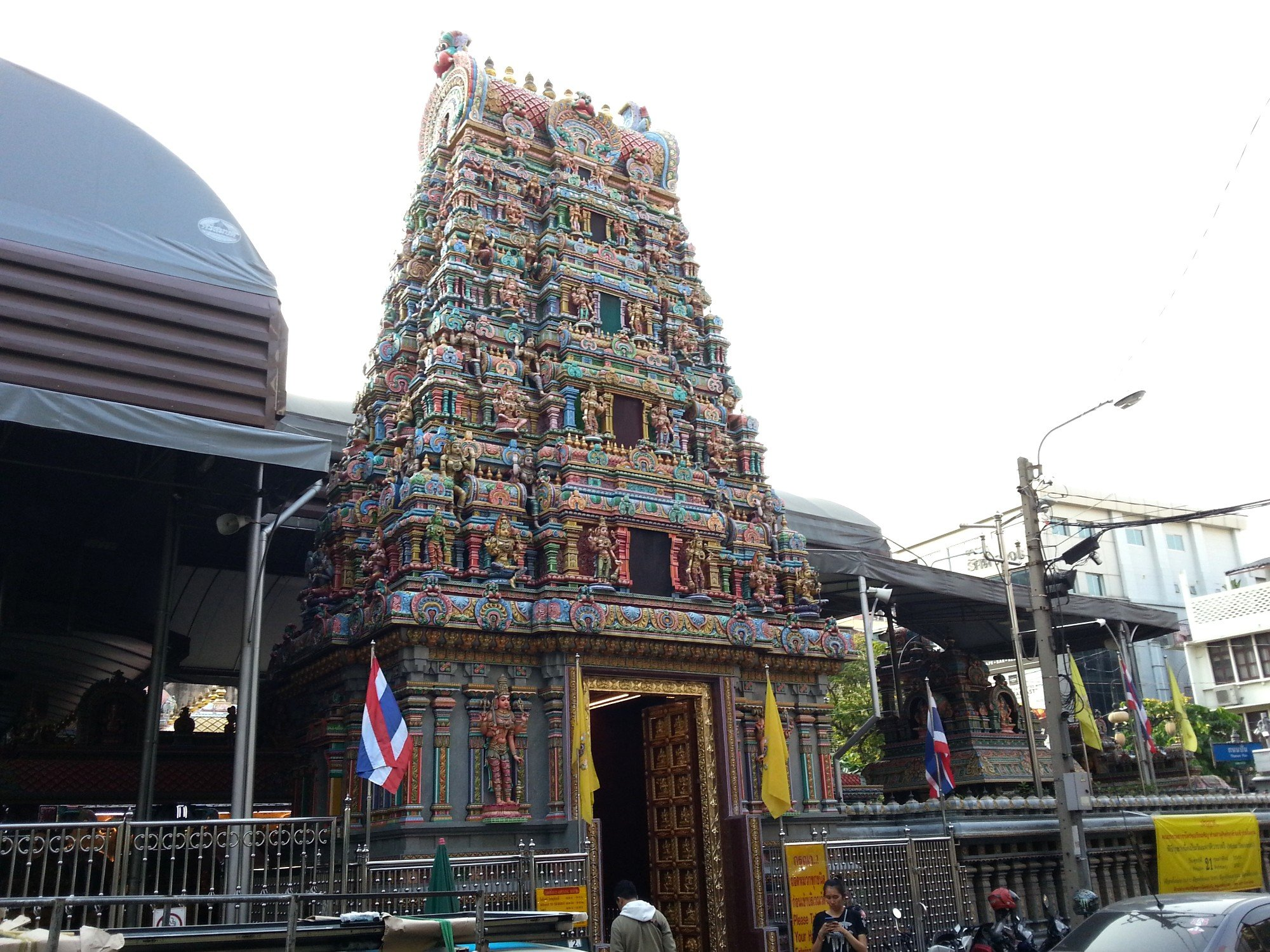 Gopura tower at the Sri Maha Mariamman Temple