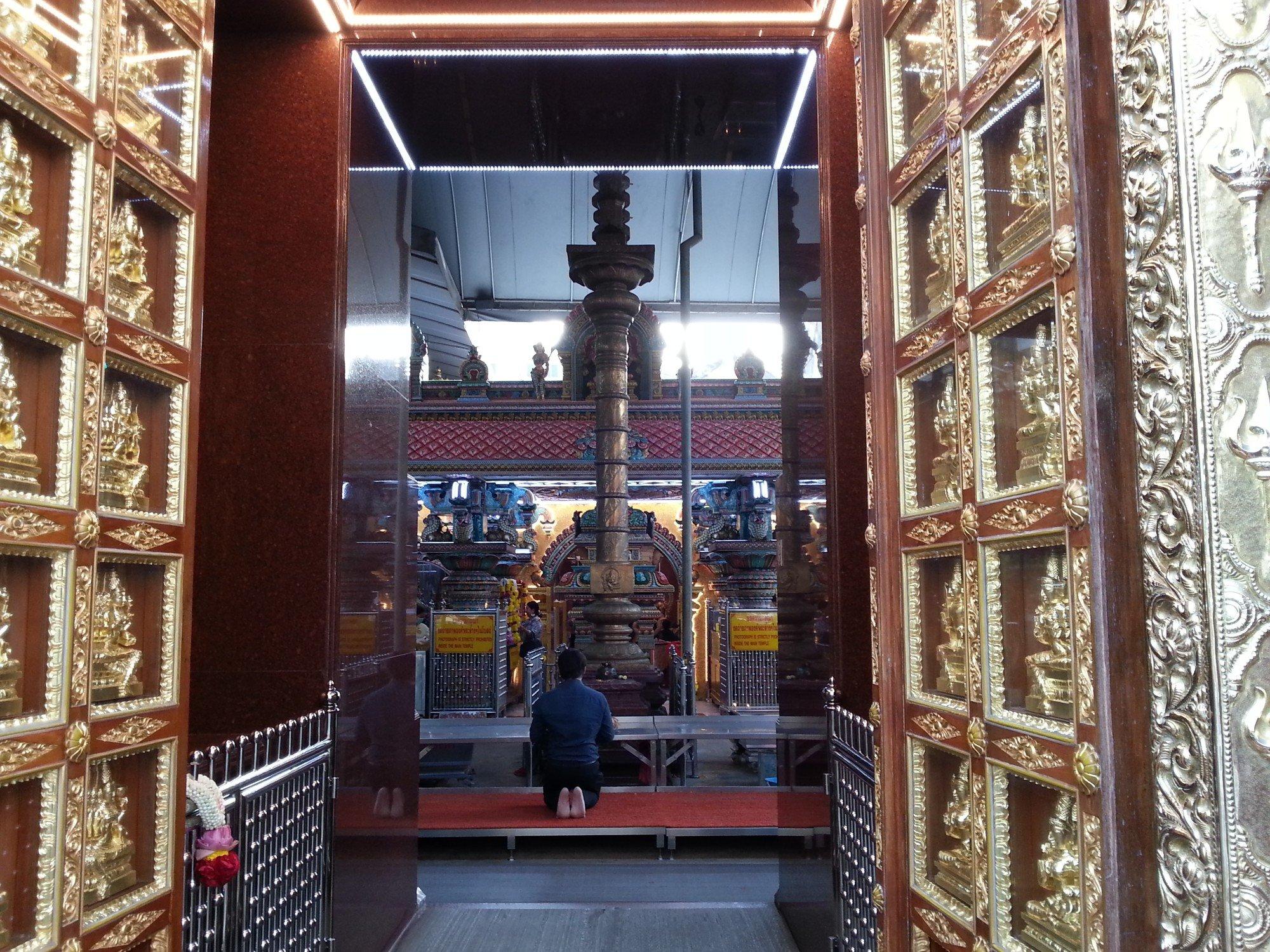 Inside the Sri Maha Mariamman Temple