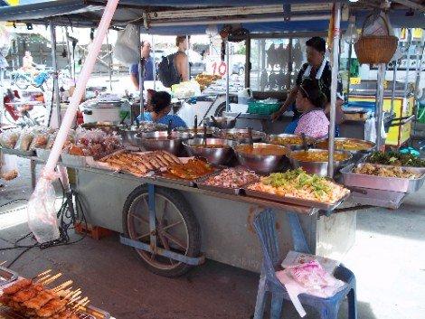 Food stall at Phantip Food Market