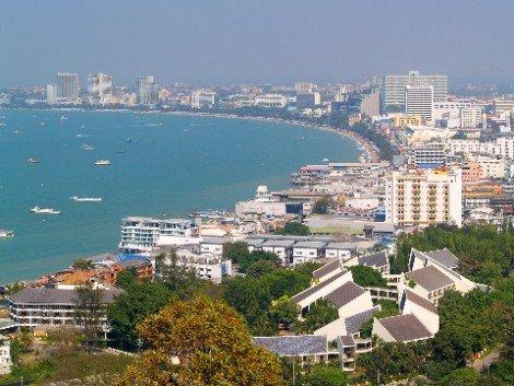 View across Pattaya Beach