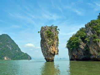 Phuket is located on the Western edge of Phang Nga Bay