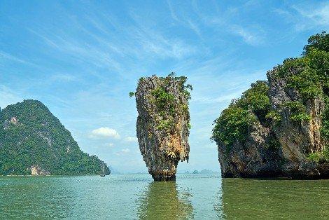 Phuket is located on the Western edge of Phang Nga Bay
