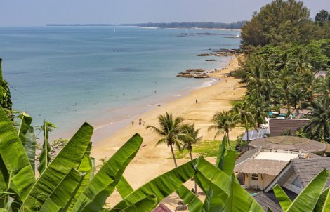 Sandy beaches line the coast of Khao Lak
