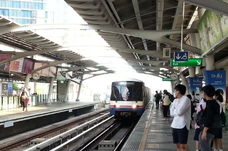 The BTS is Bangkok's modern elevated suburban railway network