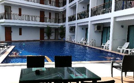 Ground floor pool at the Paripas Patong Resort
