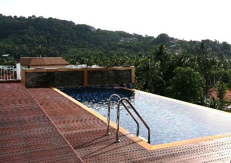 Roof top pool at the Paripas Patong Resort