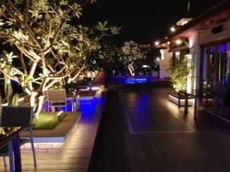 Rooftop restaurant at the Suvarnabhumi Suite Hotel