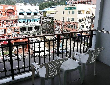 Room balcony at the Paripas Patong Resort