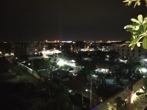 View from the rooftop restaurant at Suvarnabhumi Suite Hotel