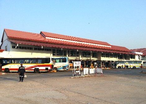 Bus services at Khon Kaen Bus Terminal 3